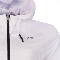 【LI-NING】AWDP193-1白 運動時尚品味質感男款連帽外套