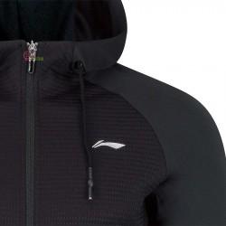 【LI-NING】AWDP193-2黑 運動時尚品味質感男款連帽外套