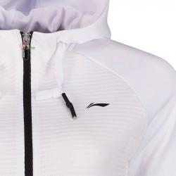 【LI-NING】AWDP196-1白 運動時尚品味質感女款連帽外套