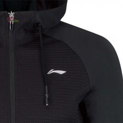 【LI-NING】AWDP196-2黑 運動時尚品味質感女款連帽外套