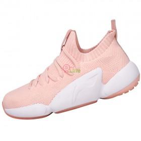 【LI-NING】NEXT LIFE-1亞麻粉 全新襪套設計絕佳包覆訓練級羽球鞋女款
