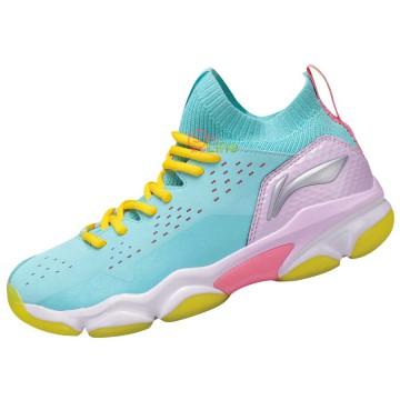 【LI-NING】音爆2.0-2青果綠 全新襪套設計超強包覆比賽級羽球鞋女款