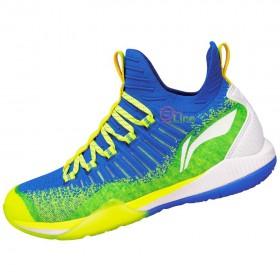 【LI-NING】酷鯊-2藍綠 全新襪套設計超強包覆比賽級羽球鞋男款
