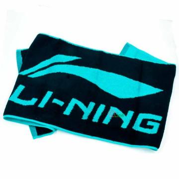【LI-NING】LOGO款黑/翡翠綠 厚到不行五星級運動毛巾(長105cm)
