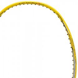 【LI-NING】3D CALIBAR-300黃灰 4U攻擊防守30磅速度型羽球拍