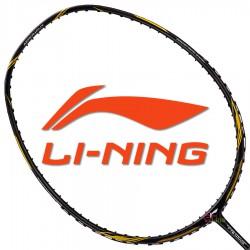 【LI-NING】Aeronaut-4000黑金 4U雙孔風洞30磅速度型羽球拍