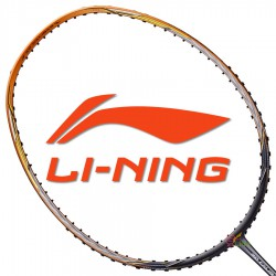 【LI-NING】3D CALIBAR-600灰金 4U拍速加快30磅速度型羽球拍