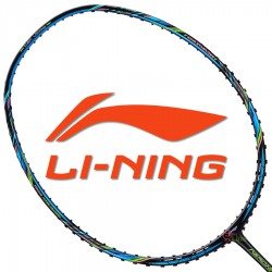 【LI-NING】風動Aeronaut 7000B黑藍 3U劉雨辰均衡型羽球拍