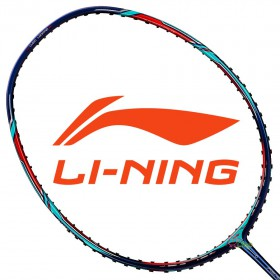 【LI-NING】風動9000C靛藍 3U鄭思維力量型羽球拍