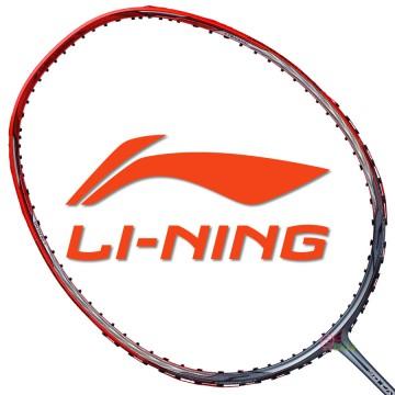 【LI-NING】3D CALIBAR-900B紅灰 3U阿山32磅N90IV均衡型羽球拍