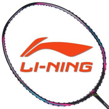 【LI-NING】TC-75黑藍 3U傅海峰32磅N9II速度型重扣羽球拍