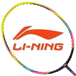 【LI-NING】輕量Windstorm 300炫彩黃 6U極速揮拍攻擊羽球拍