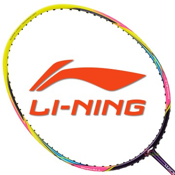 【LI-NING】WS-300炫彩黃 6U極速揮拍30磅攻擊羽球拍