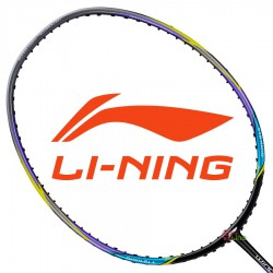 【LI-NING】輕量Windstorm 300炫彩灰 6U極速揮拍攻擊羽球拍