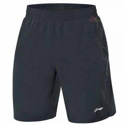 【LI-NING】AAPQ043-1黑 可打包梭織男款羽球短褲