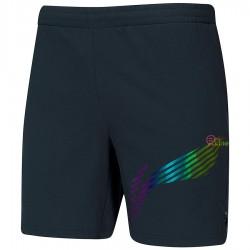 【LI-NING】AAPQ035黑 品牌LOGO低調炫彩梭織男款羽球短褲
