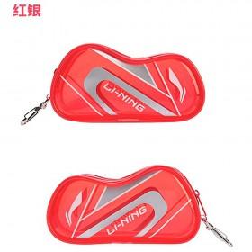 【LI-NING】ABSP258-1紅灰 球拍袋造型可愛零錢包