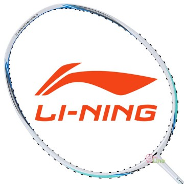 【LI-NING】能量10B白藍 4U中管適中30磅均衡型羽球拍