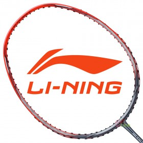 【LI-NING】風刃600B紅灰 3U中管偏軟均衡型羽球拍