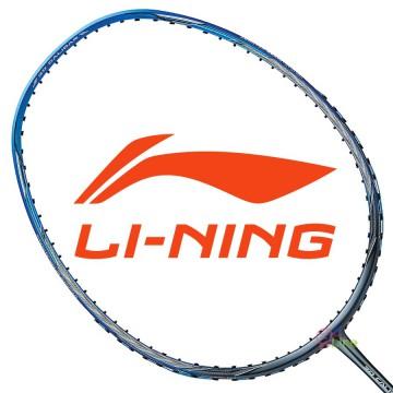 【LI-NING】風刃600C藍灰 3U暴力扣殺力量型羽球拍