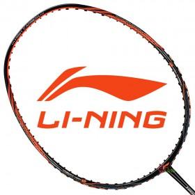 【LI-NING】HC1100黑橙 4U軟中管好上手高碳纖羽球拍
