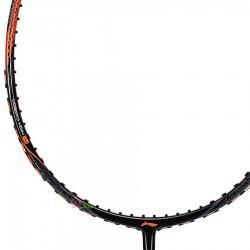 【LI-NING】超碳HC-1100黑橙 4U軟中管好上手羽球拍
