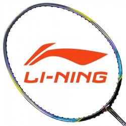 【LI-NING】輕量Windstorm 74炫彩灰 5U輕量30磅極速攻擊羽球拍