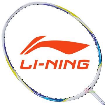 【LI-NING】輕量Windstorm 74炫彩白 5U輕量30磅極速攻擊羽球拍