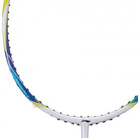 【LI-NING】輕量74炫彩白 5U輕量30磅極速攻擊羽球拍