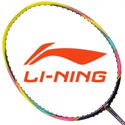 【LI-NING】輕量Windstorm 74炫彩黃 5U輕量30磅極速攻擊羽球拍