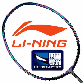 【LI-NING】Aeronaut 6000I粉藍 5U輕量型攻擊羽球拍