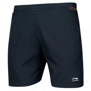 【LI-NING】AAPR079-2黑 經典梭織羽球短褲