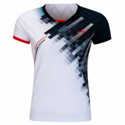 【LI-NING】AAYR196-3白黑 超輕不對稱緹花女款比賽服