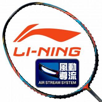 【LI-NING】Aeronaut 6000C黑紅3U風洞攻擊型羽球拍