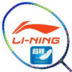 【LI-NING】Windstorm 72絢藍 6U超輕30磅超速攻擊羽球拍