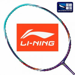 【LI-NING】風動Air Stream 50TD紫 3U輕量低風阻羽球拍