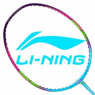 【LI-NING】Windstorm 72藍紫 6U超輕30磅極速攻擊羽球拍
