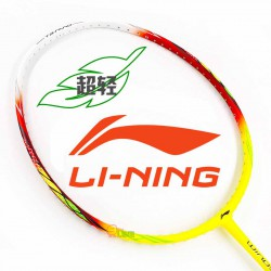 【LI-NING】WS-500紅黃 超輕量5U快速攻擊羽球拍