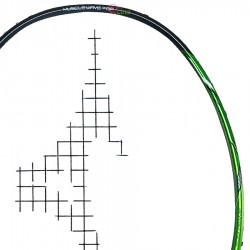 【MIZUNO】XYST02 銀灰/綠3U5專利T頭手感直接攻擊型羽球拍