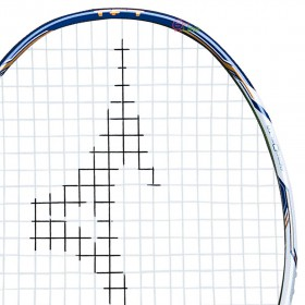【MIZUNO】ZEPHYR ZL白藍 細中管6U5重頭高速殺球攻擊型羽球拍