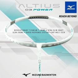 【MIZUNO】ALTIUS 03 POWER白銀綠 4U5U攻擊型羽球拍