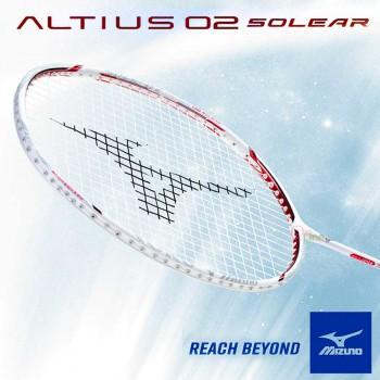 【MIZUNO】ALTIUS 02 SOLEAR白紅黑 4U6低風阻輕鬆回擊羽球拍