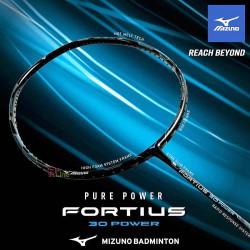 【MIZUNO】FORTIUS 30 POWER黑銀藍 4U5高質量重頭重攻型羽球拍