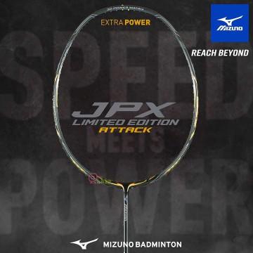 【MIZUNO】JPX Limited Edition-Attack銀黑 3U5硬中桿強力攻擊羽球拍