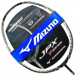 【MIZUNO】JPX V-EDITION黑銀 重頭中桿適中4U5高階減震攻擊羽球拍