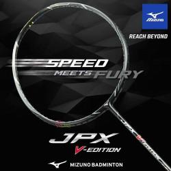 【MIZUNO】JPX V-EDITION白藍銀 重頭中桿適中4U5高階減震攻擊羽球拍
