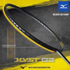 【MIZUNO】XYST-03黑金 4U5硬中管32磅攻擊型羽球拍