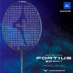 【MIZUNO】FORTIUS 50 SWIFT黑藍金 5U5就是快攻擊型羽球拍