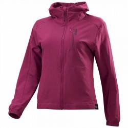 【MIZUNO】彈性抗UV平織連帽女外套32TC078168紫紅