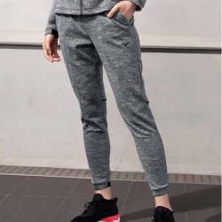 【MIZUNO】很保暖女針織縮口長褲32TD073188麻花灰